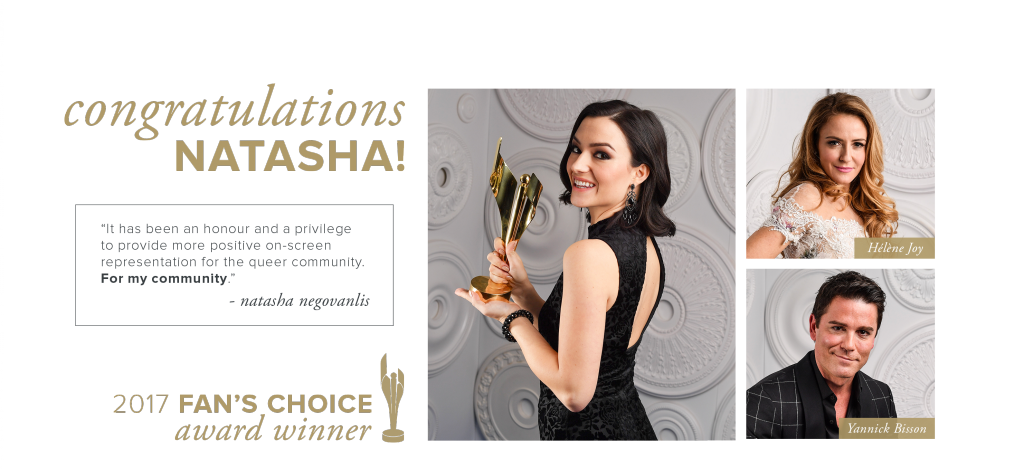 Fan's Choice Winner, Natasha Negovanlis