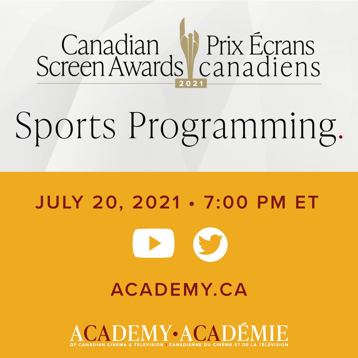 Canadian Screen Awards Sports Programming