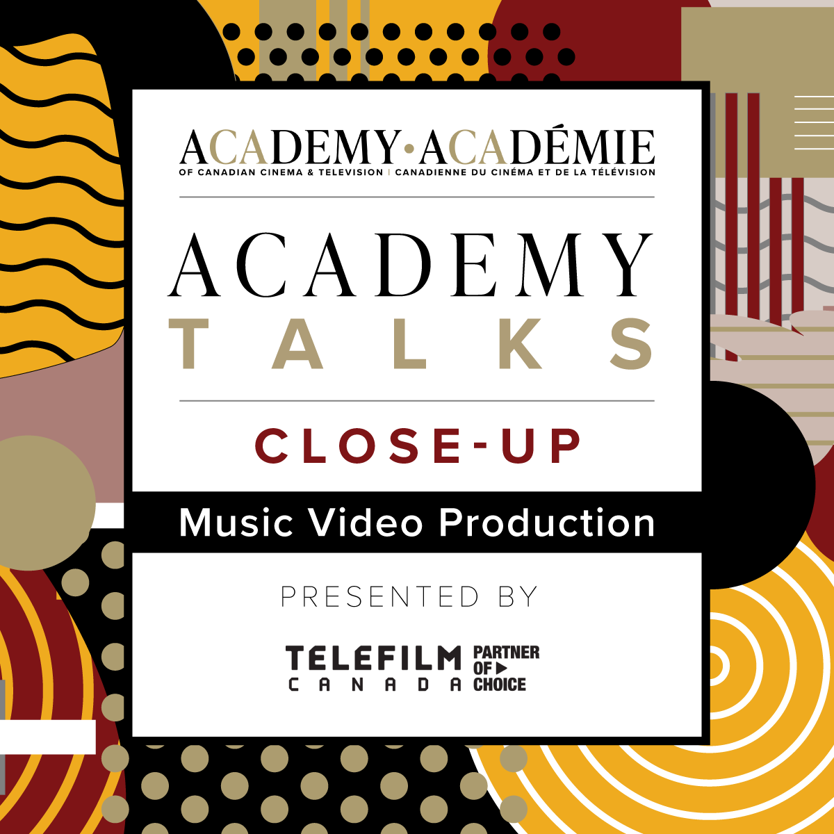 Academy Talks: Close-Up | Music Video Production