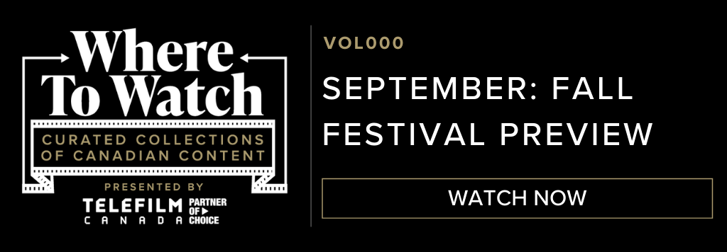 Black header image with Where to Watch logo clicking through to Septembers collection