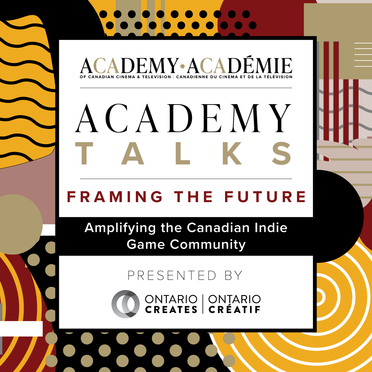 Academy Talks: Framing the Future | Amplifying the Canadian Indie Game Community